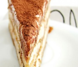 Tiramisu with moscavado coffee syrup and cocoa nibs