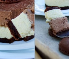 Lemon and Cardamom Chocolate Mousse Cakes